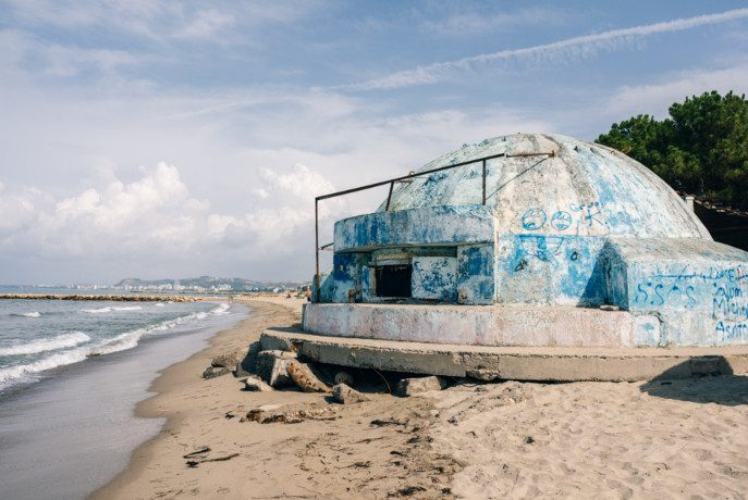Bunkier na plaży w Golem